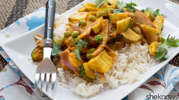 Thai coconut vegetable curry for a