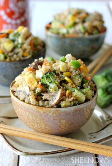"quinoa veggie ""fried"" rice"