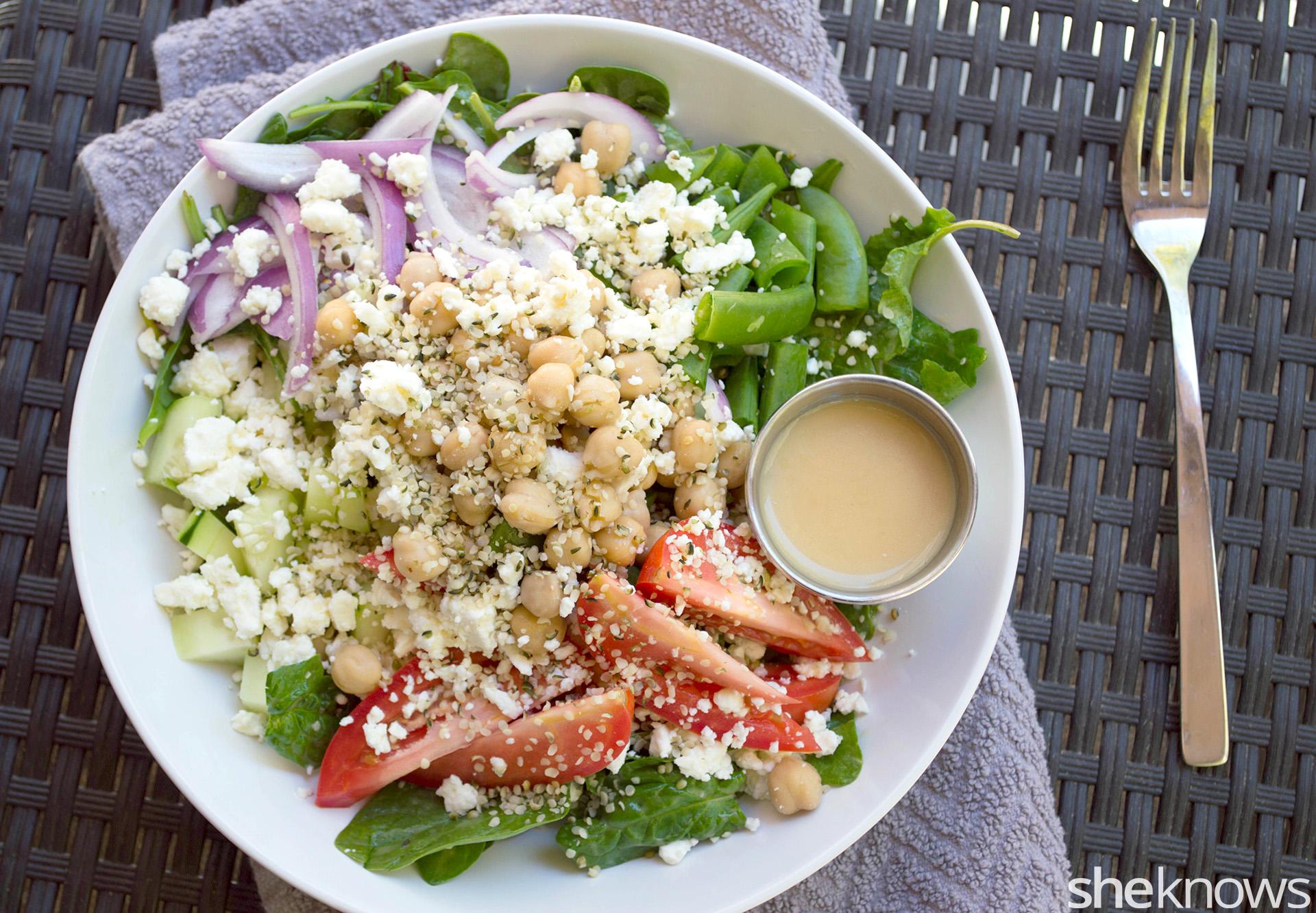 Healthy veggie power bowl recipe
