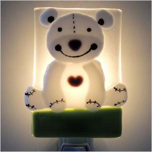 Veille Sur Toi cuddly bear glass nightlight