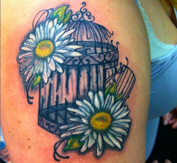 bird cage tattoo