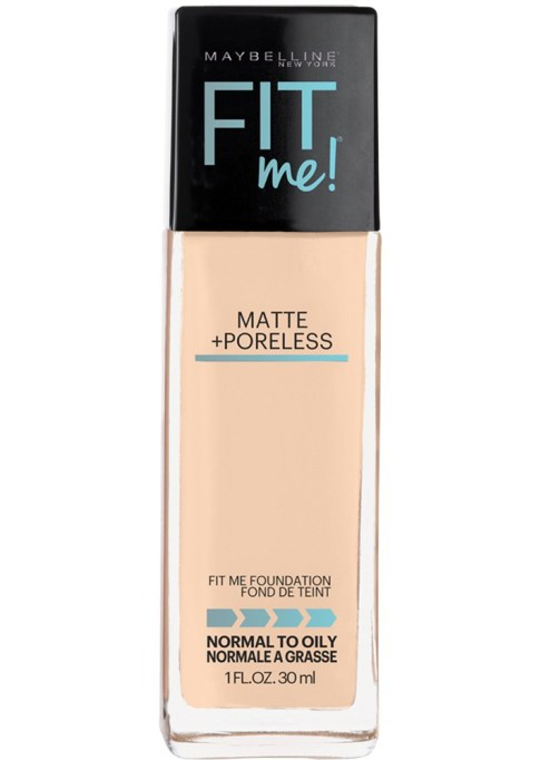 The Best Makeup Products for Oily, Shiny Skin: Maybelline Fit Me Matte + Poreless Foundation | Summer Makeup 2017
