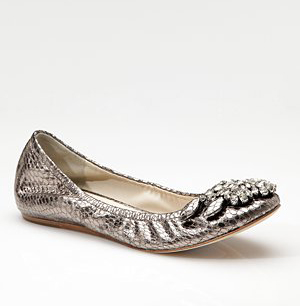 Vera Wang ballet flat for Kate Middleton's wedding