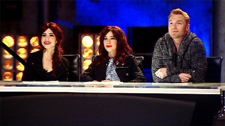 The Veronicas judge with Ronan Keating