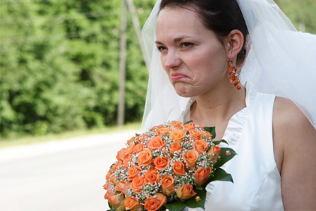 Very angry bride