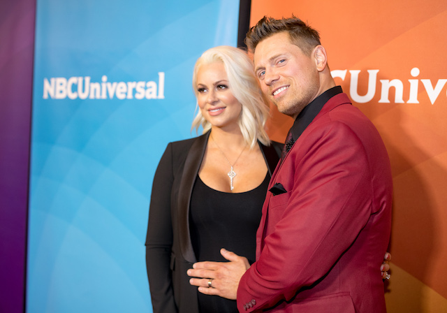 Maryse and The Miz attend the 2018 NBCUniversal Winter Press Tour