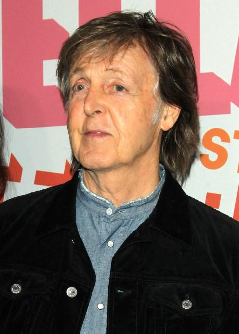 Paul McCartney at Stella McCartney Autumn 2018 Presentation