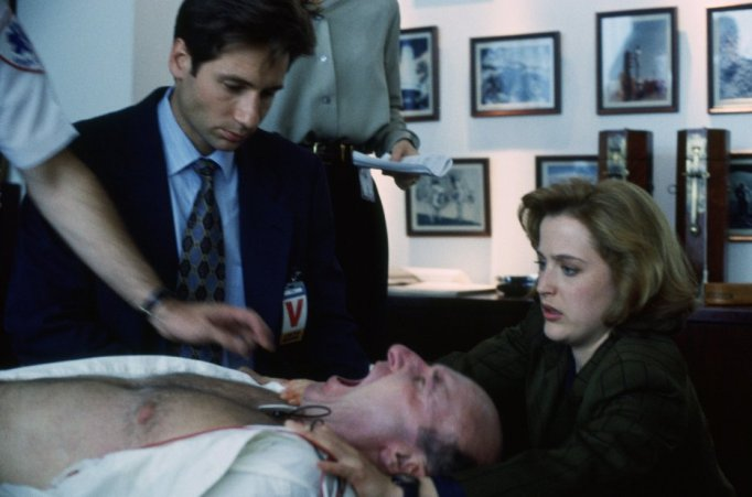 Gillian Anderson and David Duchovny in X-Files