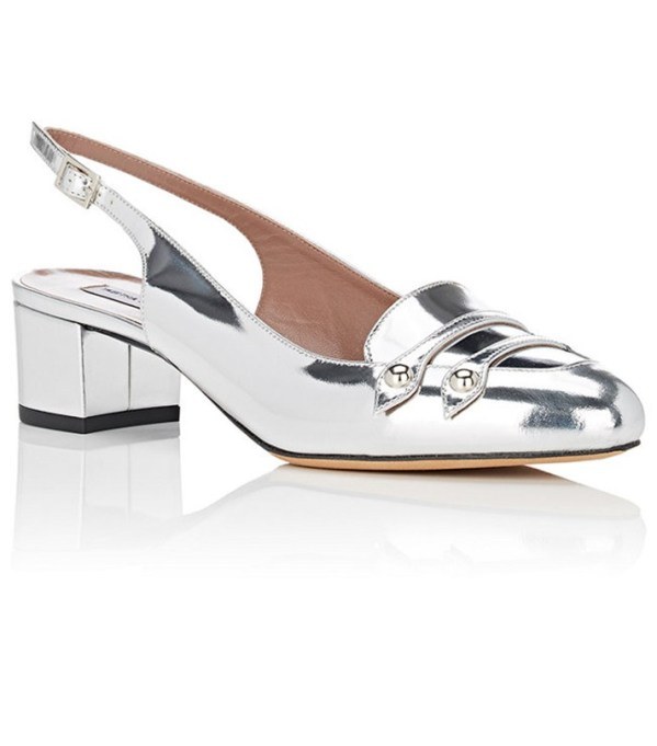 The Best Slingback Shoes to Wear This Summer: Tabitha Simmons Ined Metallic Leather Pumps | Summer Footwear 2017