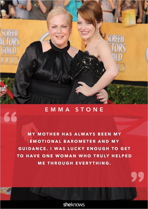 Emma Stone and her mom