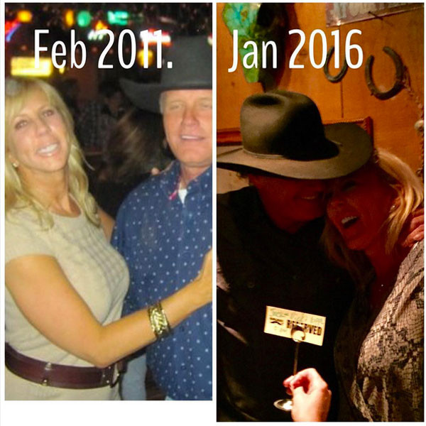 Vicki and Jack in 2011 & 2016