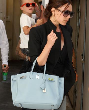 Victoria Beckham with Birkin bag