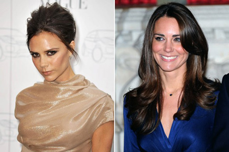 Victoria Beckham and Kate Middleton