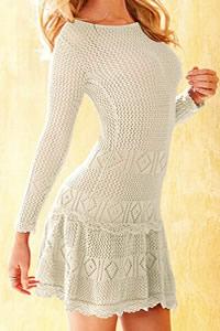 Victoria's Secret Crochet Scoopback Mini Dress