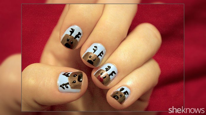 Give yourself a Christmas manicure