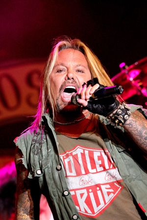 Vince Neil onstage