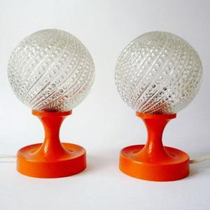 Vintage bedside lamps