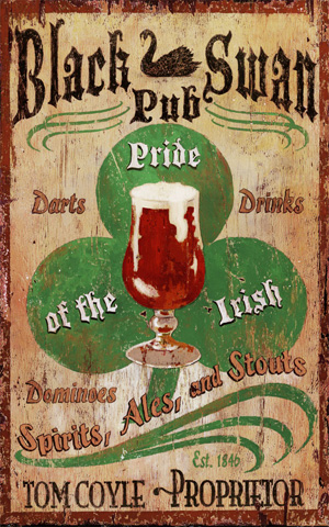 Irish pub vintage sign