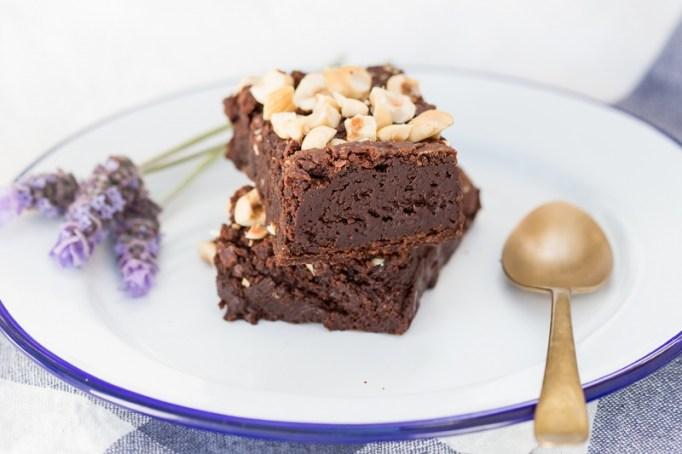 Recipe swaps to help your partner eat healthier | vegan hazelnut brownies