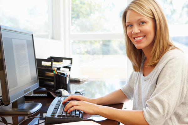 Virtual assistant working from home
