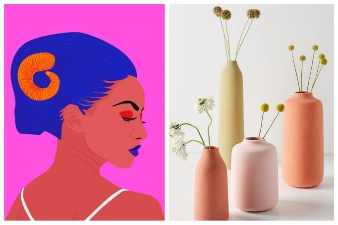 Aries: matte pastel earthenware vases
