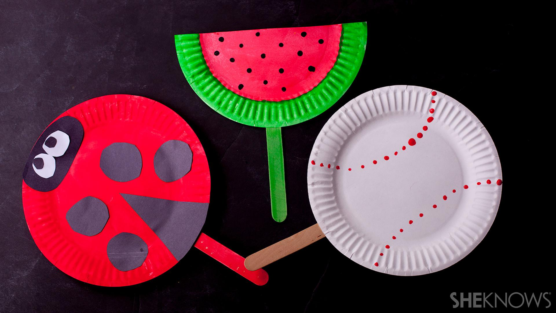 Cool Craft Transform Paper Plates Into Colorful Fans Sheknows
