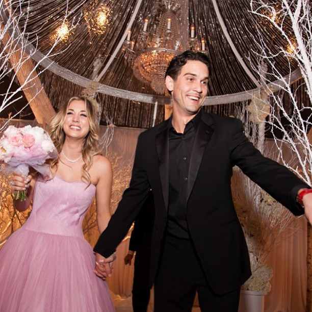 Celebrity Who Wore Unconventional Wedding Dresses: Kaley Cuoco | Celebrity Weddings