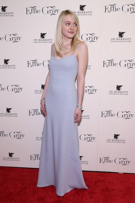 Dakota Fanning pale blue dress
