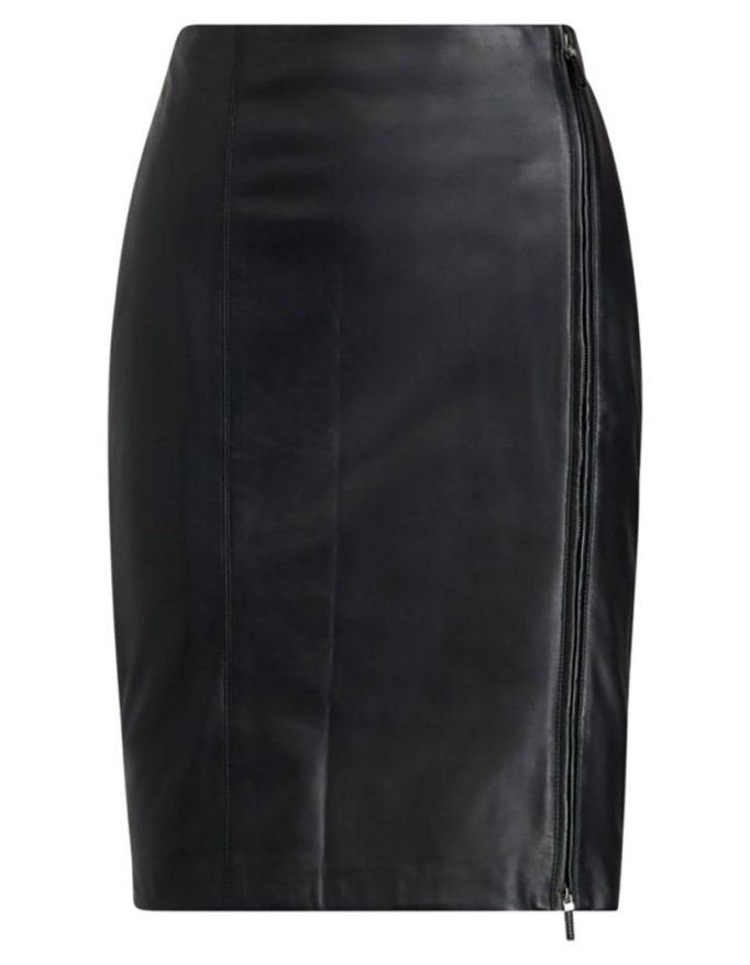 Modern Pieces For Every Woman's Work Wardrobe | Ralph Lauren Leather Pencil Skirt