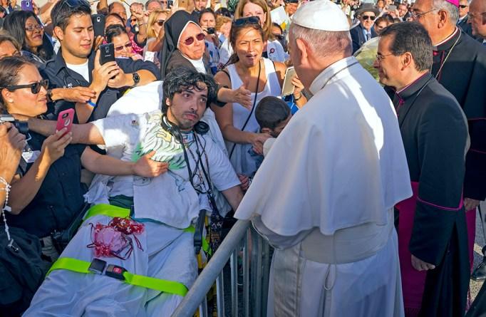 Pope Francis meets with Gerard Gubatan of Brooklyn