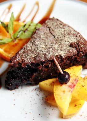 Vegan Chocolate Cake with Fruit