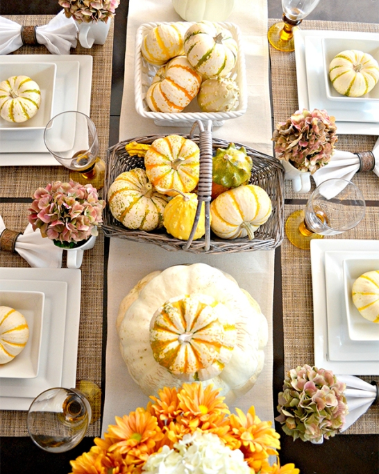 18 Homemade Thanksgiving Table Ideas That Even the DIY-Challenged Can Manage: Gourds