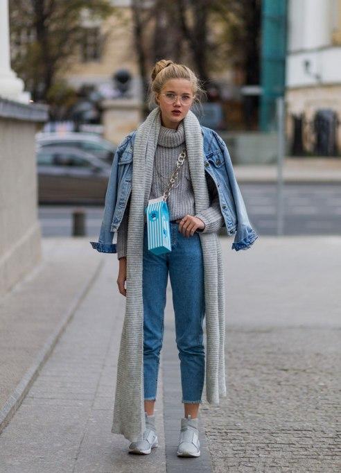 Ways To Wear A Turtleneck | Grey + Denim