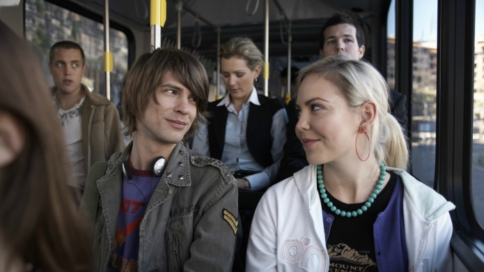 Man meets woman on a bus