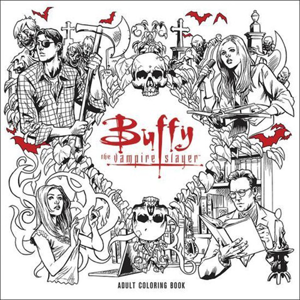 Quirkiest Gifts from Your Favorite Pop Culture Shows: 'Buffy the Vampire Slayer' coloring book