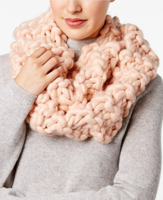 Ways to Wear an Infinity Scarf | Vince Camuto chunky knit infinity scarf