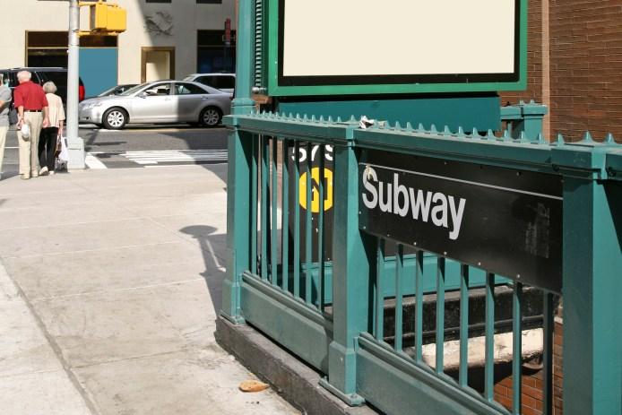 Subway Entrance On Corner Of 57th