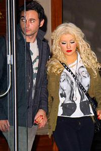 Christina Aguilera steps out with a