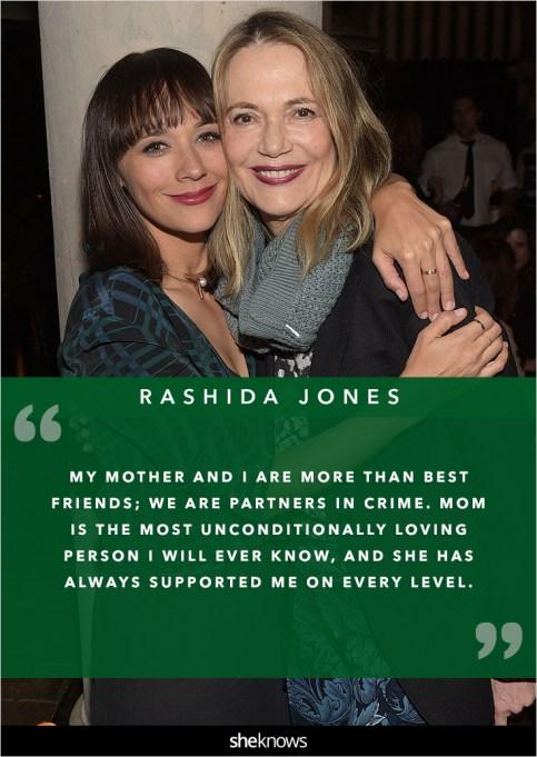Rashida Jones and her mom