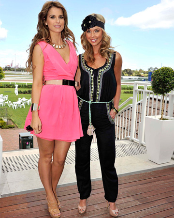 Vogue Williams and Brodie Harper at the Melbourne Cup