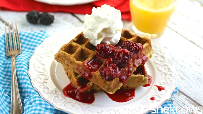 Gluten-Free Friday: Waffles with strawberry-blackberry compote