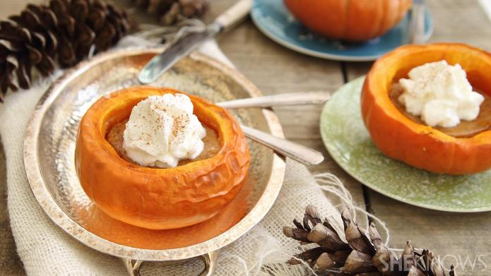 Pumpkin Pie Inside a Mini Pumpkin