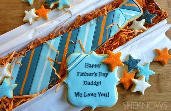 Tasty attire: Father's Day cookie necktie