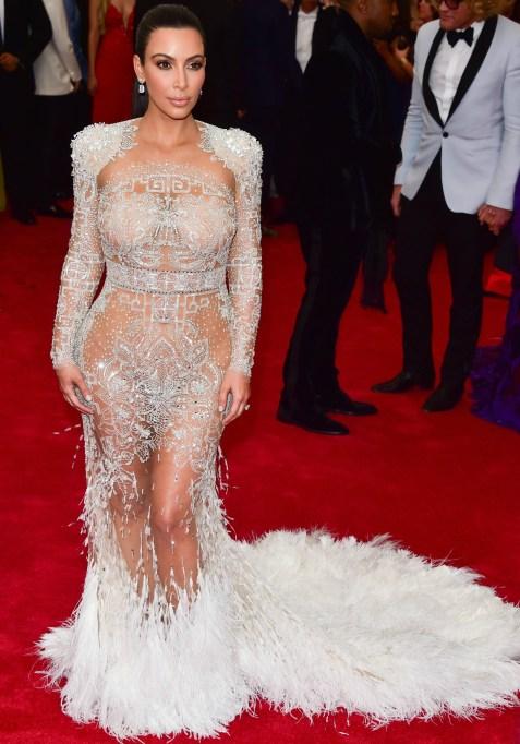 Kim Kardashian naked dress
