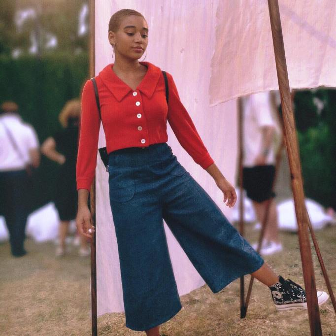 Celebrities Who Wore Wide Leg Jeans and Looked Damn Good |Amandla Stenberg