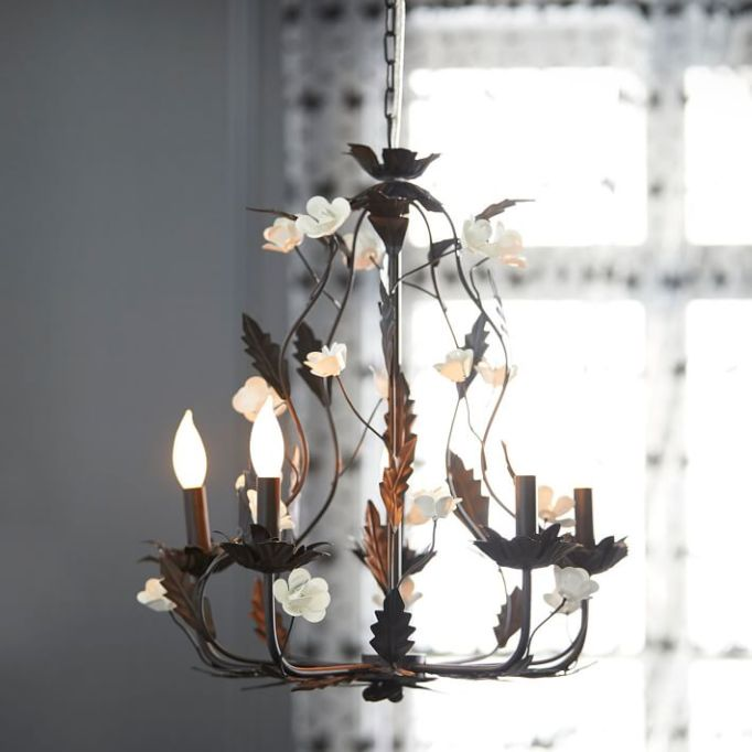Anna Sui for PBteen: This floral chandelier adds a romantic touch to your decor