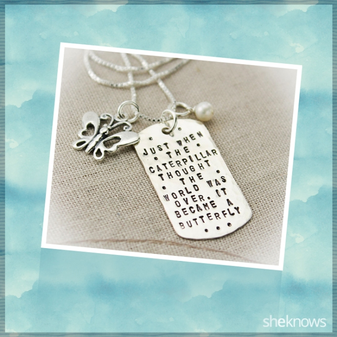 Inspirational Quote Dog Tag necklace