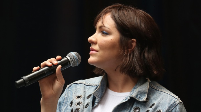 Katharine McPhee onstage at the United