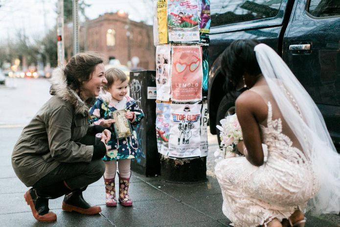 Little Girl Confuses Bride With Princess,