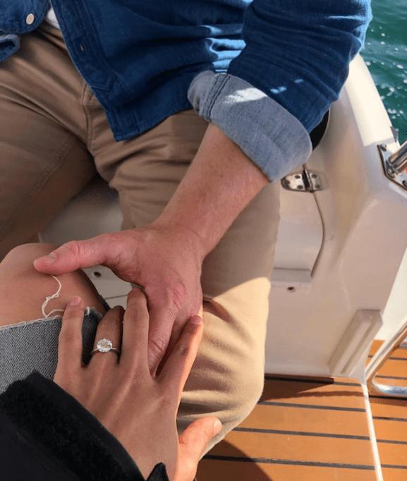 Instagram photo of Chris Masterson Yolanda Pecoraro engagement ring